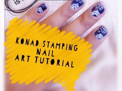 Konad Stamping Nail Art Tutorial