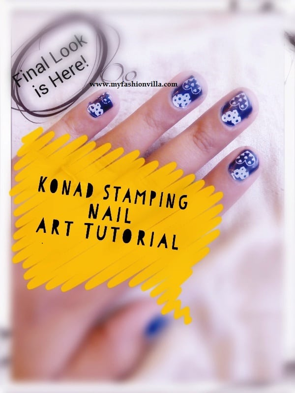 Konad Stamping Nail Art Tutorial With Video (For short Nails)
