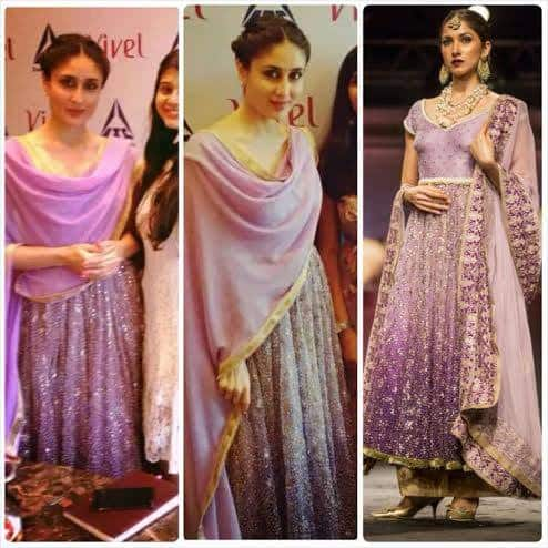 Kareena Kapoor Wearing Meera Muzaffar Ali Outfit during Interview