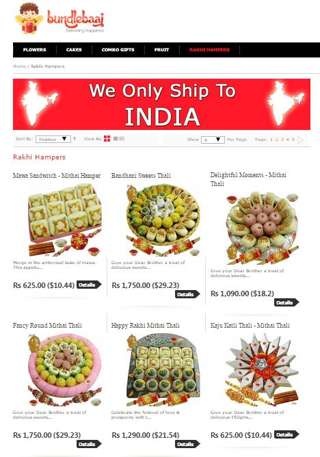 Send Rakhi to India