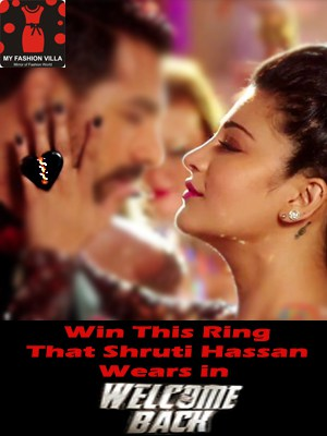 Win Ornamas Ring That Shruti Hassan Wears in Welcome Back (Closed)