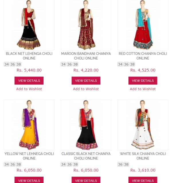 Chaniya Choli Online