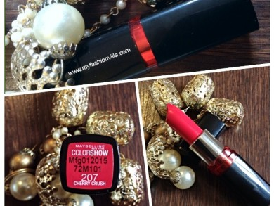 Maybelline Color Show Lipstick Cherry Crush Swatches & Review