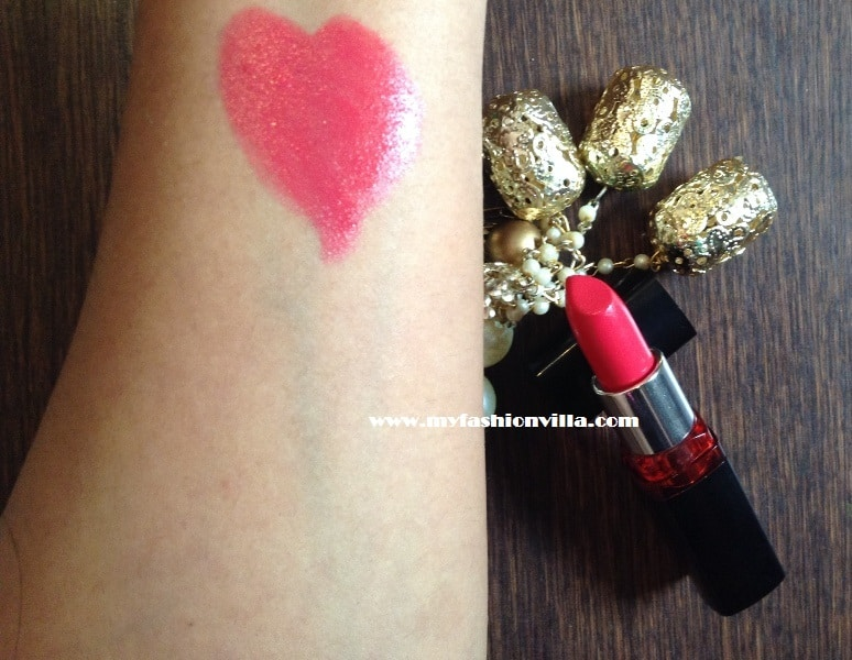 Maybelline Color Show Lipstick Cherry Crush Swatches