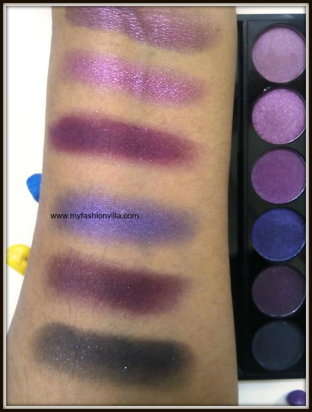 Sleek I-Divine Eye shadow Palette In Vintage Romance Swatches