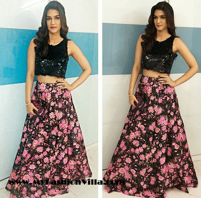 Kriti Sanon in A Nadine Studio Dress for Masaba Gupta Sangeet