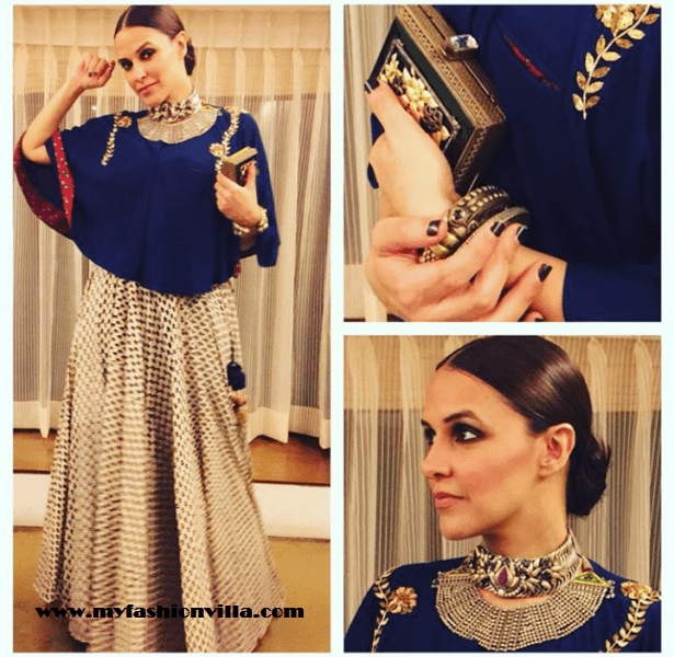 Neha Dhupia in Natashaj for Masaba Gupta's Wedding Reception