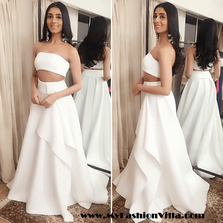 Pernia Qureshi in Gauri Nainika Dress at Masaba Gupta's Sangeet Function