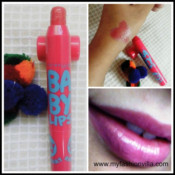 Maybelline Baby Lips Candy Wow Raspberry Review, Swatches, Price & Buying Details
