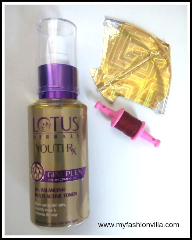 Lotus Herbal Youth RX PH Balancing Multi Active Toner Review
