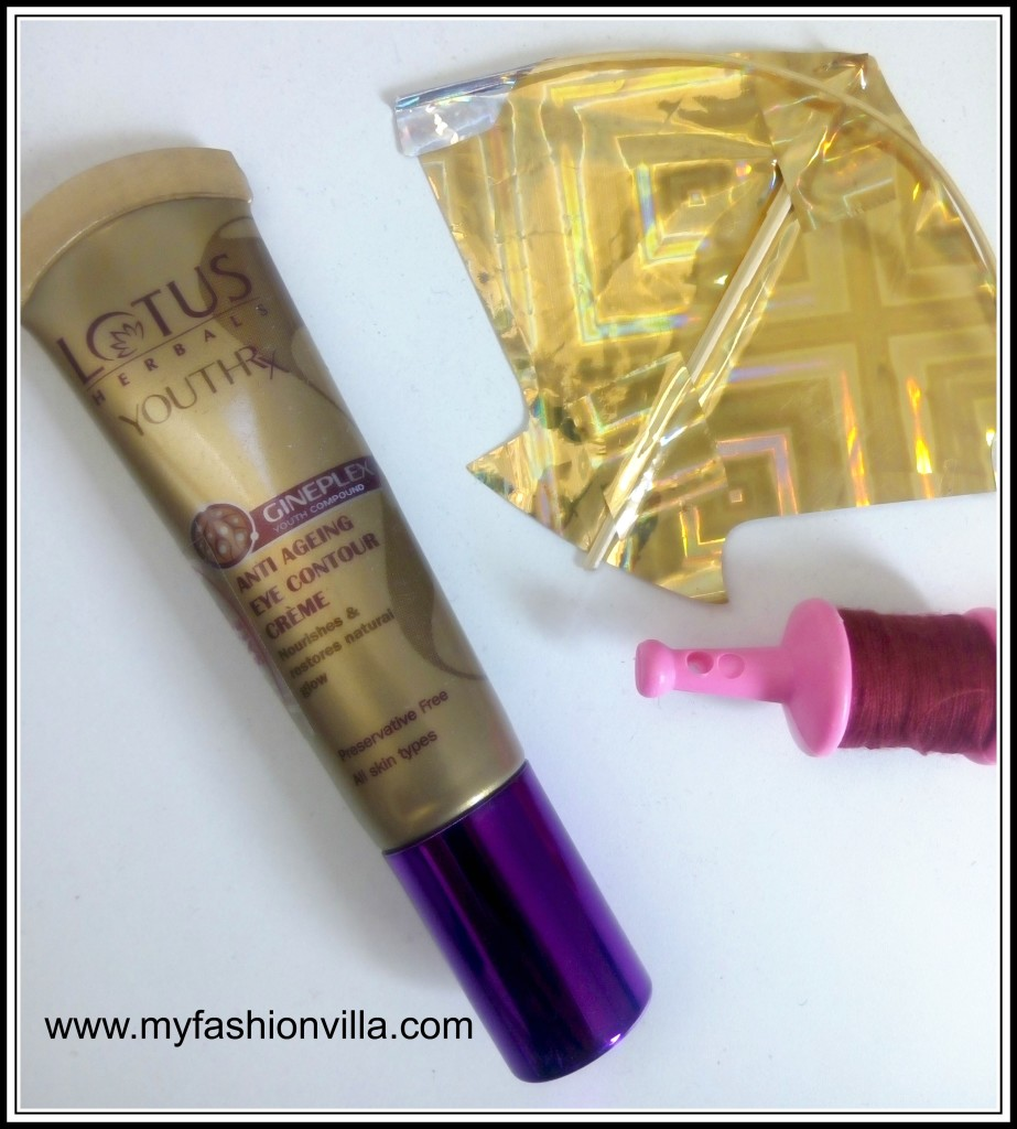 lotus herbals youthrx anti-ageing eye contour cream review