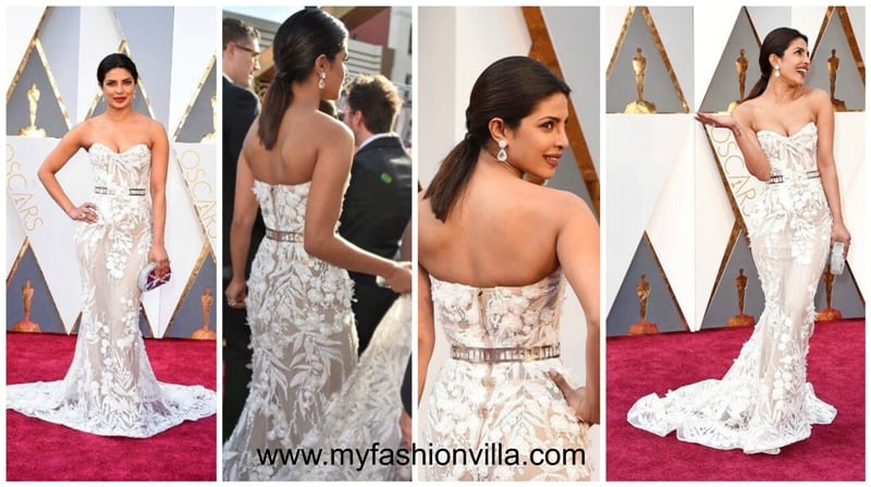 Priyanka Chopra in Zuhair Murad for Oscars 2016