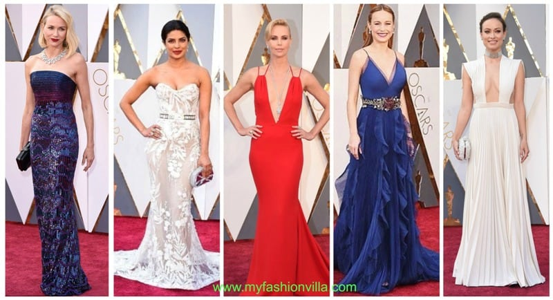 Top 5 Best Dressed Celebrities of Oscars 2016