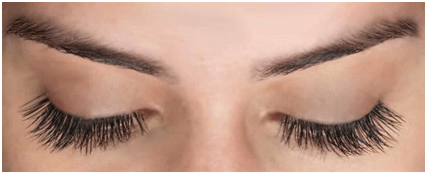 Apply coconut oil onto your eyelashes and eyebrows