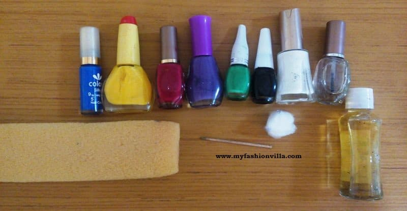 Monsoon nail art tutorial