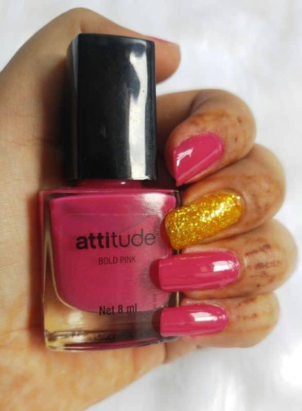Amway Bold Pink Nail Enamel (Nail Paint)