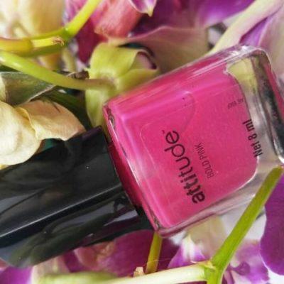 Amway Attitude Nail Enamel: Amway Bold Pink Nail Enamel Review