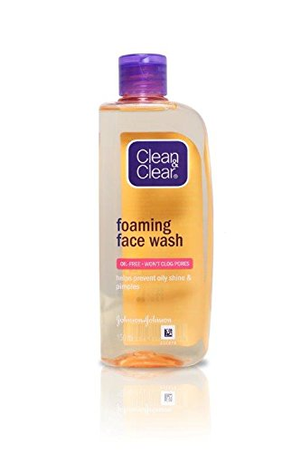 clean n clear foaming face wash