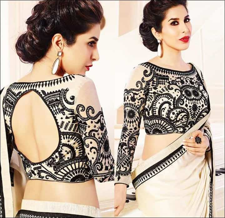 heavy embroidery blouse design