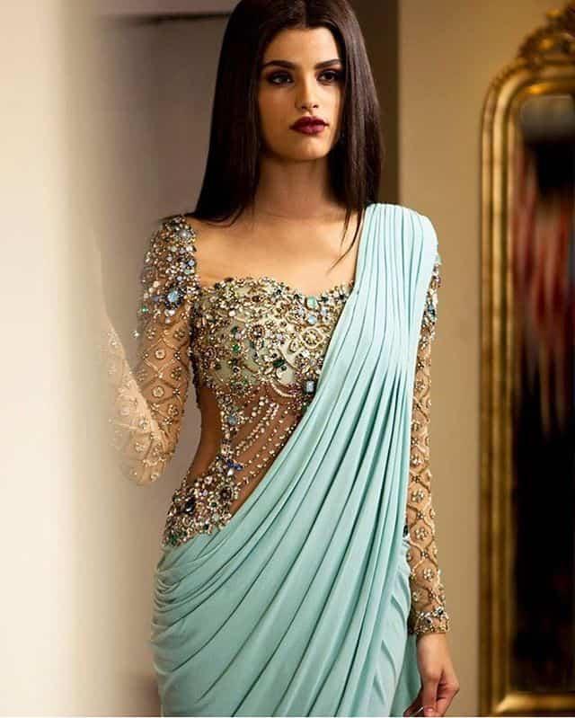 sheer jewwled blouse