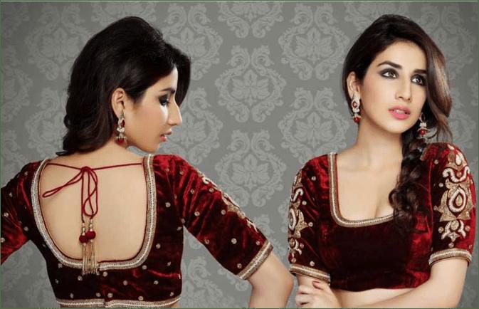 sqaure neck blouse design