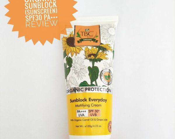 TBC Sunblock cream SPF 30+ UVB & PA+++ UVA