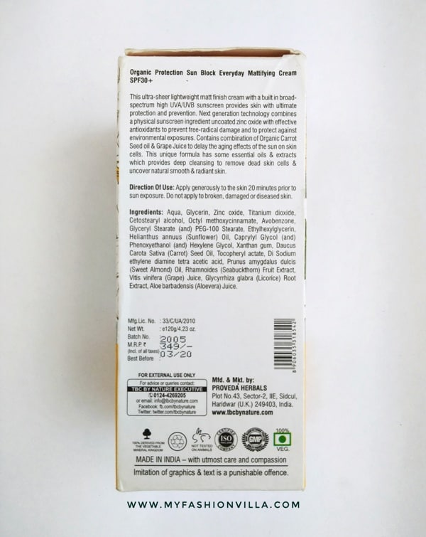 TBC Sunblock cream SPF 30+