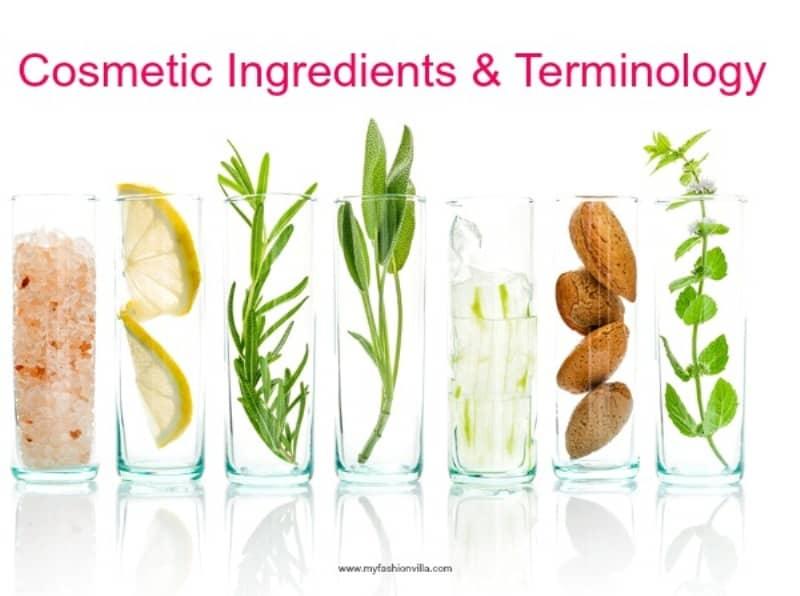 Cosmetic Ingredients & Terminology
