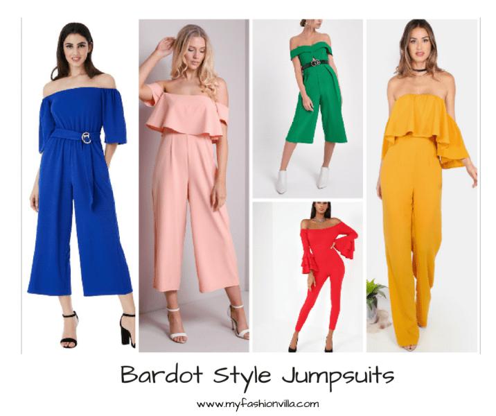 Bardot Style Jumpsuits