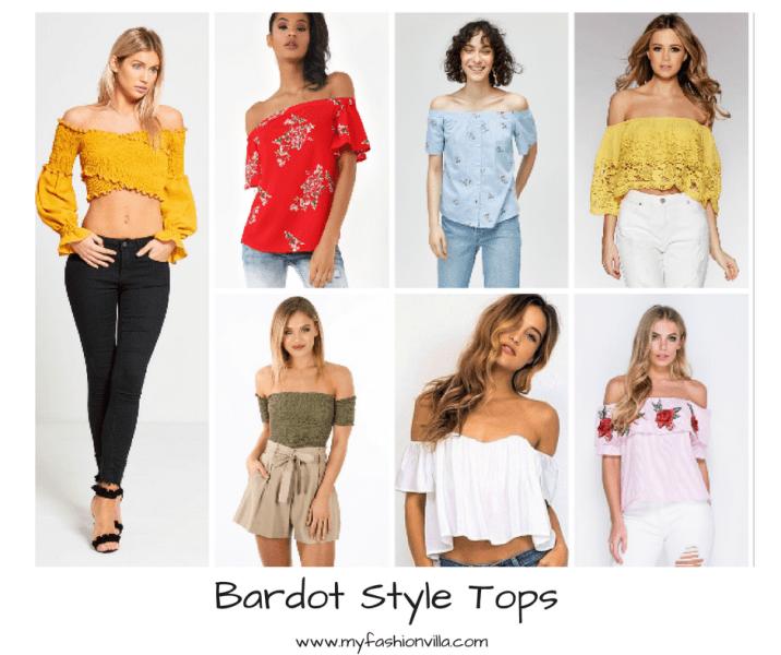 Bardot Style Tops