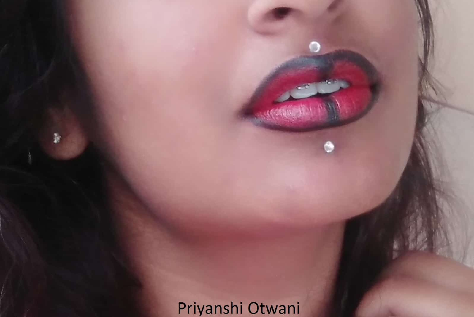 Easy Lip Art with Matte Lipstick and Kajal