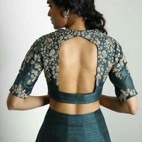 Blouse with Fancy Back Patterns