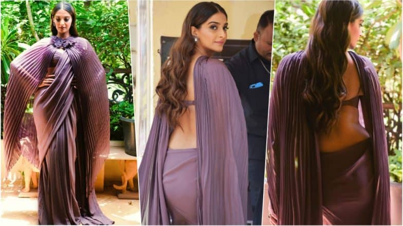 Sonam Kapoor Latest Cape Style Blouse