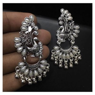 92.5 Sterling Silver Jhumka Earrings