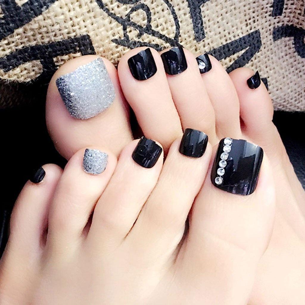 festive toe nails