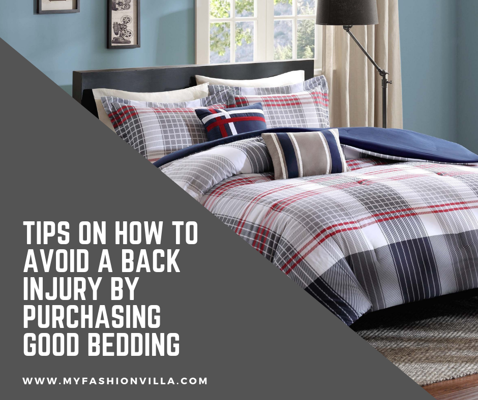 Tips On How To Avoid A Back Injury By Purchasing Good Bedding