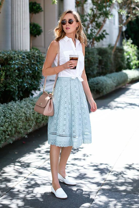 Loafers to Style Skirt